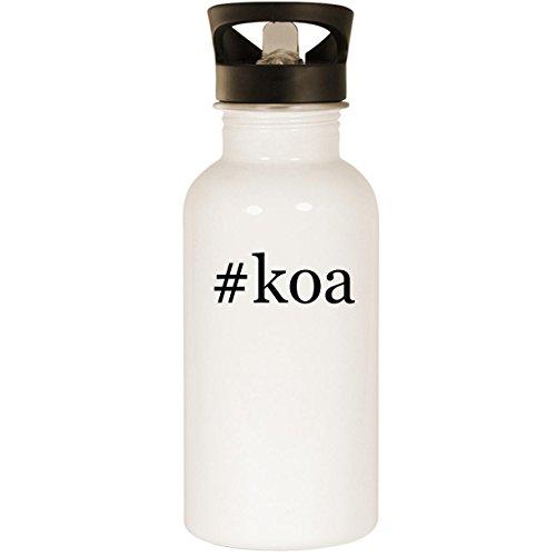 #koa - Stainless Steel Hashtag 20oz Road Ready Water Bottle, White