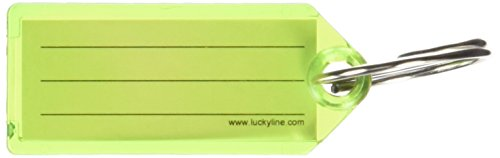 Lucky Line key Tag with Tang Ring, Green, Box of 100 (123...
