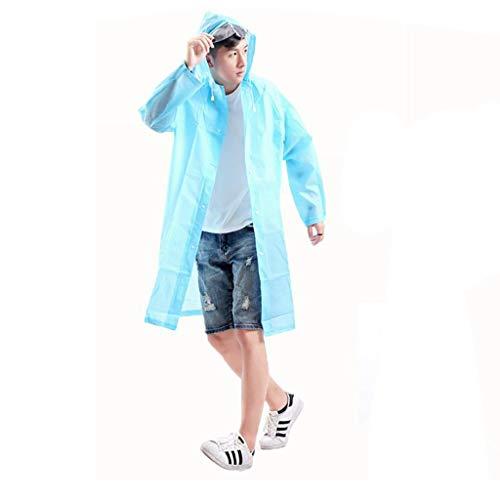 Impermeabile Poncho Hyuyi E L A Portatile Adulto Uomo colore Donna Lungo Moda Trasparente Trekking Esterno A Dimensioni 1w8wq5B