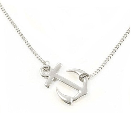 Wrapables Sideways Pendant Necklace Rhodium