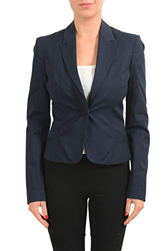 Cnc Costumes Nationale - C'N'C Costume National Women's Navy Blue One Button Blazer US 4 IT