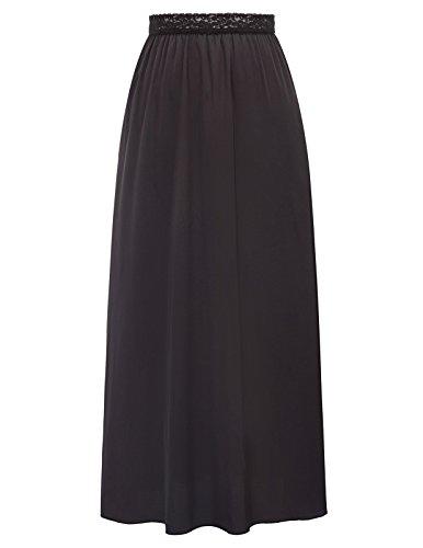 Kate Kasin Women's Half Slip Ankle Length Wedding Slips Plus Size,Black, Size XL