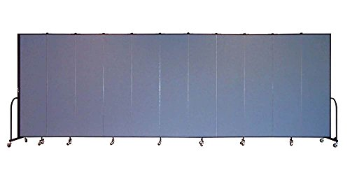 11 Panel Freestanding Partition (Freestanding 88 in. Portable Room Divider w 11 Panels (Lake Fabric))