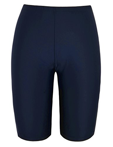 Shorts Bottoms Shorts (Firpearl Women's UPF50+ Sport Board Shorts Swimsuit Bottom Capris US10 Navy)