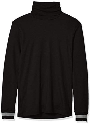 Calvin Klein Men's Long Sleeve Turtleneck Sweater, Black, X-Small