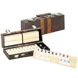 Deluxe Rummy with Wooden Racks in Attache Case
