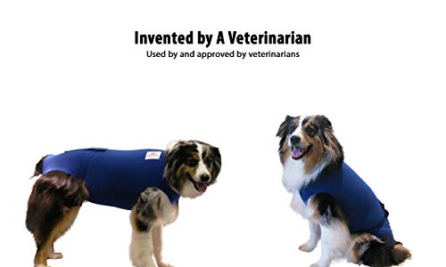 Picture of Surgi Snuggly Blue Medium - Washable Disposable Doggie Diaper Keeper - for Male and Female Pets - Fits Puppies to Adult Dogs - A Simple Solution to an Everyday Problem