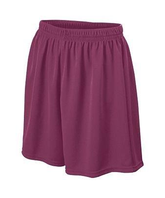 Adult Wicking Mesh Soccer Short - Maroon - Medium by Augusta Sportswear