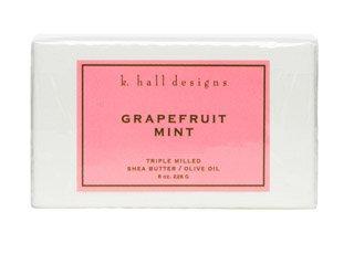 Grapefruit Mint Milled Shea Soap, 8 oz by K Hall Design (Design Mint)