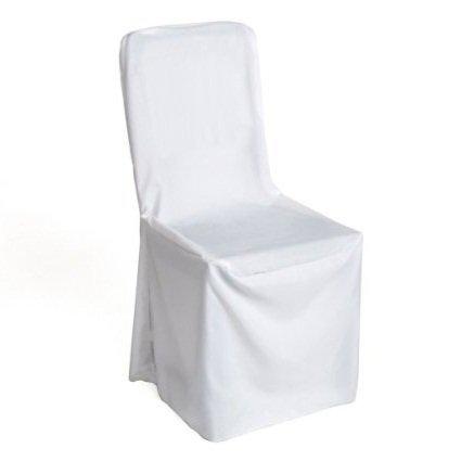 40ポリエステルスクエアトップ宴会椅子カバーウェディングパーティー&イベント – ホワイト ホワイト 40 polyestar Square Chair cover white 40 ホワイト B01GVO4NDI