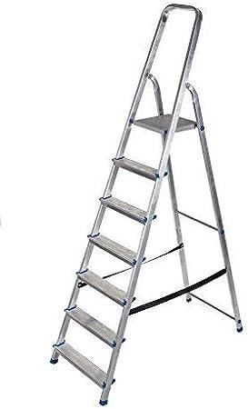 8 Stufen Alu Leiter 3 bis 8 Stufen Haushaltsleiter Malerleiter Mehrzweck Klapptrittleiter T/ÜV