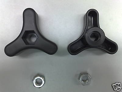 Genuine Mountfield Lawnmower Handle knobs & Nuts fits many models SP185,HP164, SP164, HP414 Part no.s 12293200/0 & 122399900/0 (X2) GGP