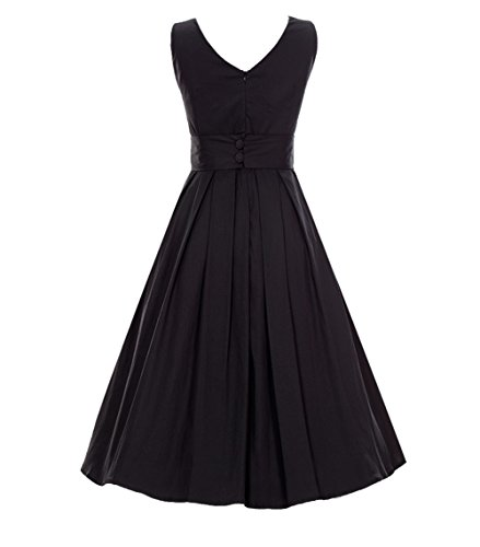 A Einfarbig Kleid Engerla Schwarz Damen Linie v0xwn5qqU