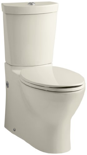 Kohler K-3654-47 Persuade Two-Piece Elongated Toilet with Dual Flush Technology, Less Seat, (Persuade Dual Flush)