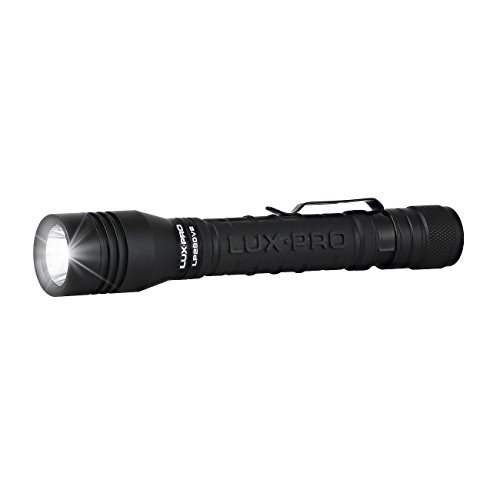 LUXPRO LP290V2 Compact LED Flashlight with Pocket Clip (Black)