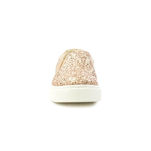 Lilley Womens Gold Glitter Slip on Shoe Multicolour vUpNJIIL