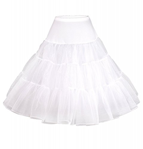 50er Jahre ROCKABILLY-KLEID inkl. Petticoat - ROSE ROT