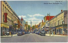 HistoricalFindings Photo: Church Street, Burlington, Vt. (Church Street Burlington)