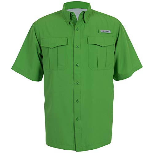 - HABIT Men's Belcoast Short Sleeve River Guide Fishing Shirt, Classic Green, Medium