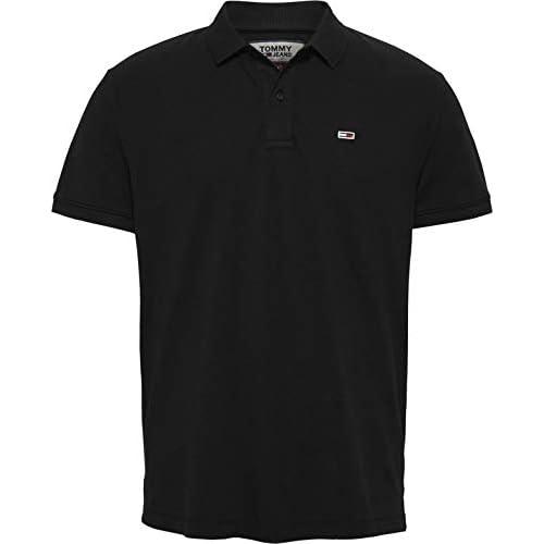 chollos oferta descuentos barato Tommy Hilfiger TJM Classics Solid Stretch Polo Negro Black X Small para Hombre