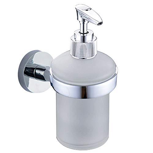 Bathroom Soap Dispenser Wall Mounted Lotion Shampoo Dispenser Bottle Holder Kitchen Frosted Glass Liquid Soap Dispenser Pump