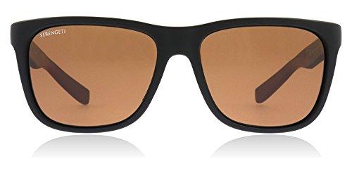 Serengeti Classic Nylon Livio Sanded Black/Brown Polarized Drivers Sunglasses