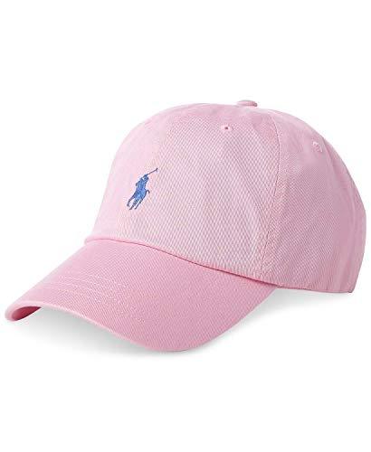 Polo Ralph Lauren Men`s Cotton Chino Baseball Cap (Pink(6763)/Navy, One Size)