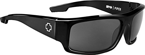 SPY Optic Piper Polarized Sunglasses for Men & for Women | Optimal Clarity Shatterproof Lenses | Durable Frame & Hinges | Sunglasses Perfect for Any Outdoor Activity (Black, Gray - Glasses Optic Spy