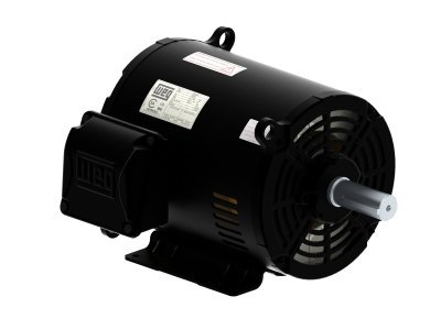 Weg Electric 00218OT3E56-S, 2HP, 1800 RPM, 3PH, 208V,230V,460V, 56H Frame, Standard Flange, Foot Mount, Open, General Purpose Motor by Weg Electric