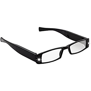 9ce67d21e7f LIGHTSPECS Men s Rechargeable Ultra Bright LED Lighted Lightweight  Rectangular Reading Glasses