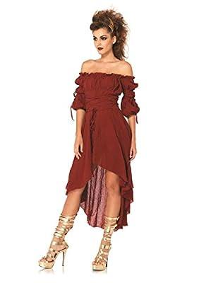 Leg Avenue Women's High Low Peasant Dress Costume