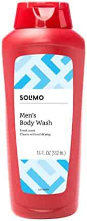 Amazon Brand - Solimo Men's Body Wash, Fresh Scent, 18 Fluid Ounce