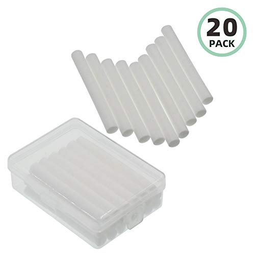 Fre.Filtor 20-Pack Replacement Filters/Wicks for Car Mini Humidifier & Ultrasonic Aroma Diffuser,Car Diffuser Sponges Refill Sticks, Absorbent Sponge Sticks, 2.76 X 0.31 Inch