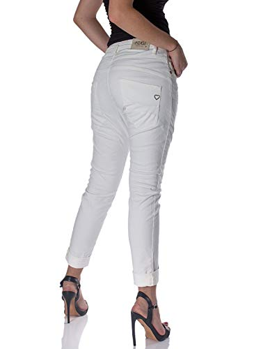 Jeans Baggy Bianco P78a Donna Please 8qOvO
