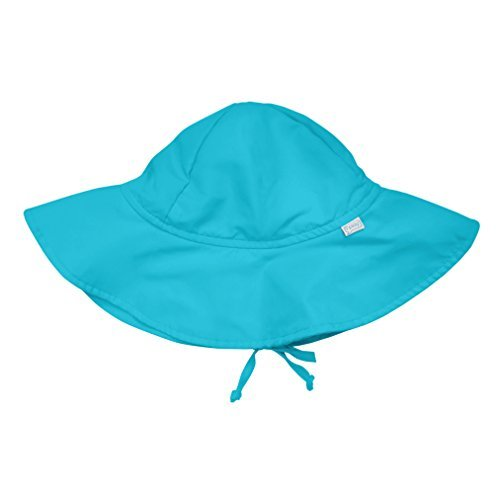 i play Solid Brim Sun Protection Hat for Unisex (6-18 Months, Infant, Aqua) by I Play