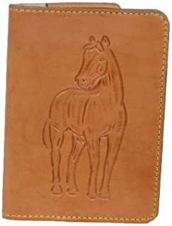 product image for Leather Notepad Cover with Tooled Horse