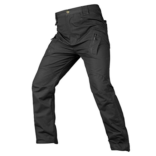 Realdo Hot!Clearance Sale Mens Daily Casual Solid Straight Outdoors Work Trousers Cargo Pants(Small,Black) by Realdo (Image #4)