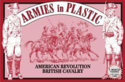 (AIP American Revolutionary War British Cavalry on Horseback: 10pc 54mm Plastic Army Men Figures)