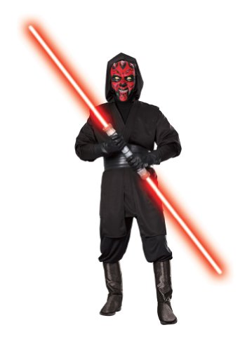 Star Wars Adult Deluxe Darth Maul, Black, X-Large Costume -