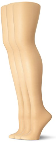 Nylon Sheer Pantyhose (L'eggs Women's Energy 3 Pack All Sheer Panty Hose, Nude, Q)