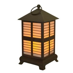 Moonrays Solar LED Mocha Metal Lantern