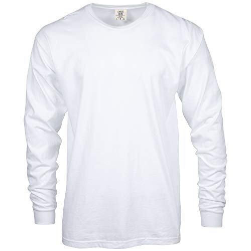 Comfort Colors Men's Adult Long Sleeve Tee, Style 6014, White, 2X-Large from Comfort Colors