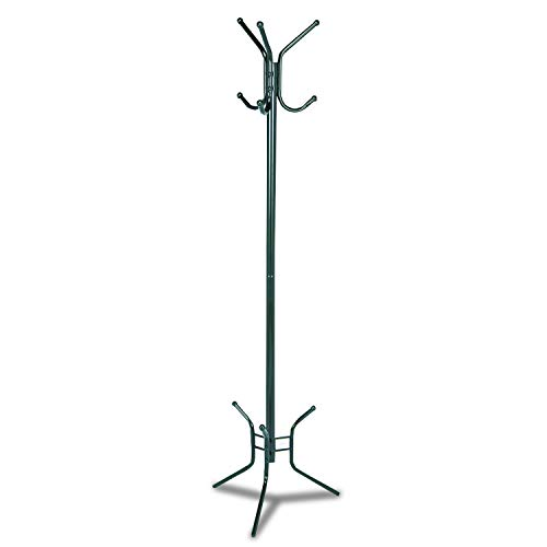 Safco Products 4215BL Costumer Coat Rack Tree with Three Ball-Tipped Double-Hooks, Black