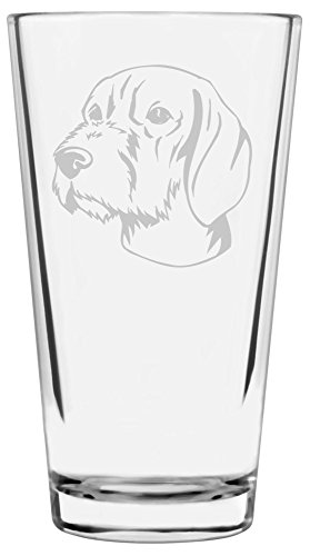 Wirehaired Vizsla Dog Themed Etched All Purpose 16oz Libbey Pint Glass