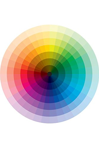 Spectrum Color Wheel with Graduation from Black to White Art Print Mural Giant Poster 36x54 inch