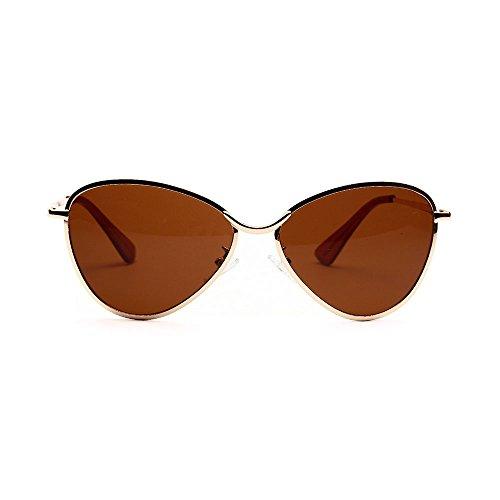 de Gafas UV400 Vintage Portección Polarizado Libre Unisex metálico Sol polarizadas inspirado Redondo Aire Sunglasses al Clásico fqrxpqd