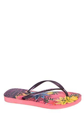dde0bf73b612e Havaianas Women s Slim Tropical Flip Flops Rose Sandal 39 40 Brazil (US  Men s 7