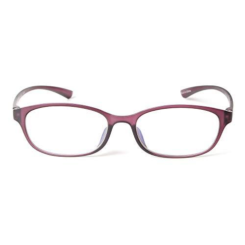 (MIDI Colors Blue Light Blocking Oval Reading Glasses for Women (M-210) Blue Light Filter Readers 1.0 1.5 2.0 2.5 3.0 (+2.50, Violet)(m210c8250))