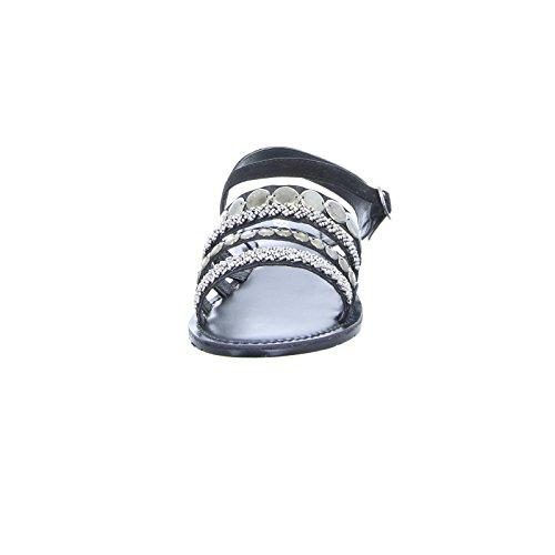 Boxx Damen Sandalette CHV-17 Leder Schwarz