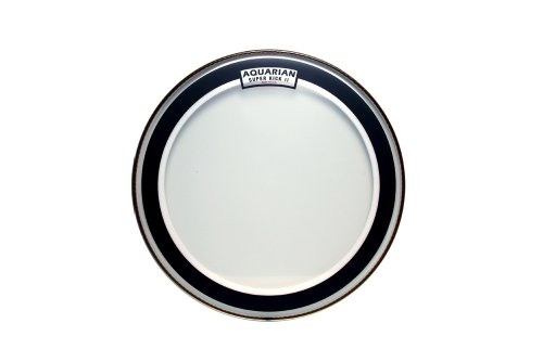 Aquarian Drumheads SKII16 Super-Kick II Double Ply 16-inch Bass Drum Head (2 Ply Clear Bass Drum)